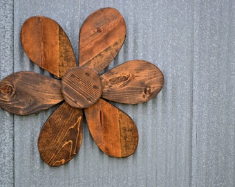 Rustic Wood Flower Wall Hanging Garden Art