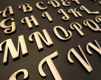 Wooden Letters for Front Door, for Wall, for Wedding, for Nursery for Crafts - Laser Cut