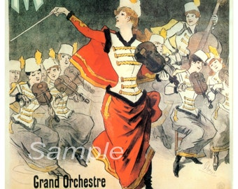 Vintage Musee Grevin French Advertising Poster Print