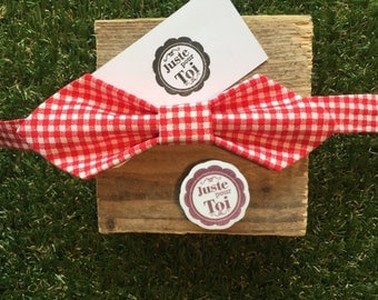 bowtie pointed red gingham