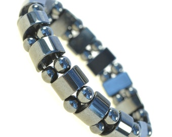 "7"" Hematite Metal Magnetic Therapy Bracelets-good for Healing and Energy -Or Arthritis Pain Relief - Women & Men -91173"