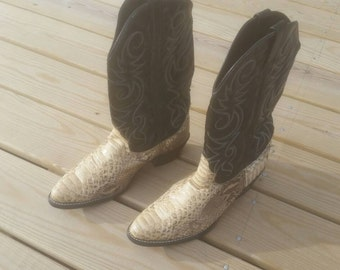 Rattle snake cowboy  boots