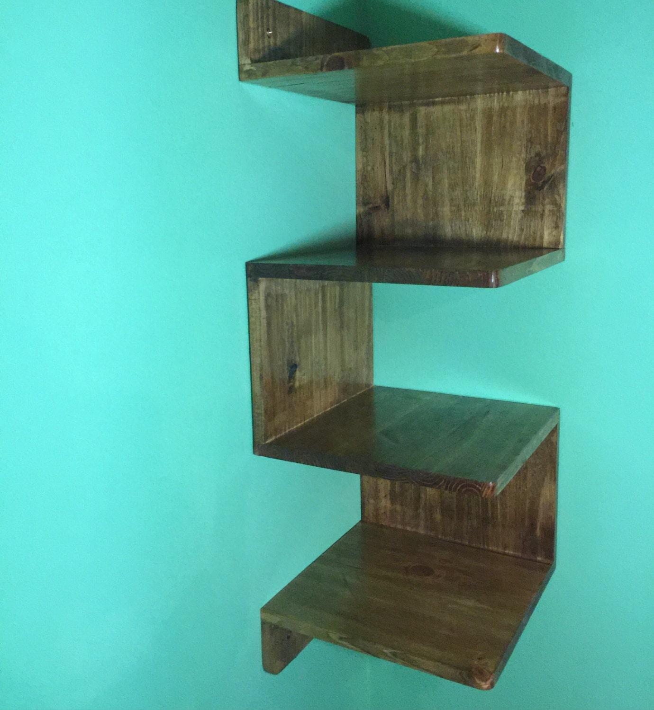 corner shelf wall mounted corner shelf handmade corner. Black Bedroom Furniture Sets. Home Design Ideas