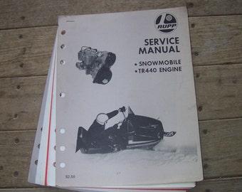 Vintage Rupp Snowmobile Service Manual TR 440 engine