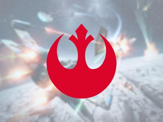 rebel alliance symbol vinyl decal the resistance sticker. Black Bedroom Furniture Sets. Home Design Ideas