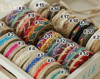 1 yard Cotton Ribbon Sewing Tape Label Print Ribbon Label-Hemp Rope, R092