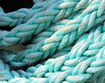 Rope - Rope Photo - Seafarring - Nautical Photo - Turquoise - Blue - Digital Photo - Digital Download - Instant Download - Beach House Decor
