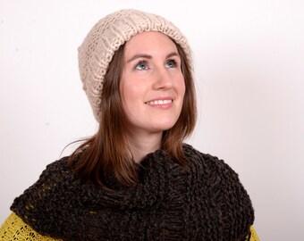 Black Wool Knit Scarf