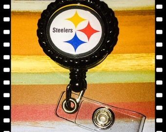 Pittsburgh Steelers Retractable Name Badge Pull