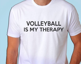 Volleyball, Volleyball is my therapy, Mens Womens Tshirt - 412