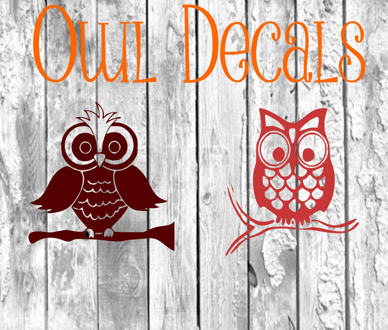 Owl Decal Yeti DecalOwls Vinyl Decal DIYIphone - Owl custom vinyl decals for car