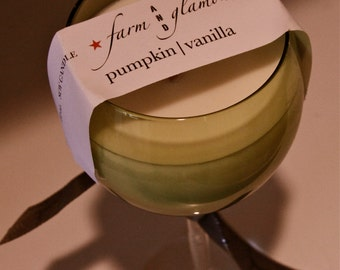 Farm And Glamour™ Pumpkin Vanilla Soy Candle, With Wooden Wick