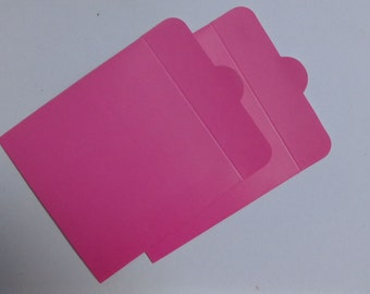 50ct Crazy Sale : Hot Pink 250g White Paper CD Sleeves - 50pcs (premade envelope)