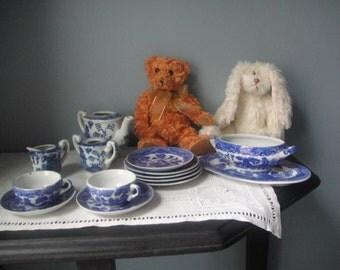 Vintage Blue and white children's tea set