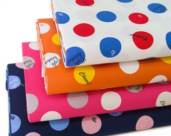 Japanese KOKKA Cotton Fabric Lighthearted  Polka Dot -Half Yard