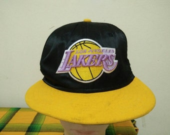 Rare Vintage LOS ANGELES LAKERS Cap Hat Free size fit all