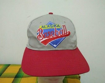 Rare Vintage ALASKA BASEBALL Cap Hat Free size fit all