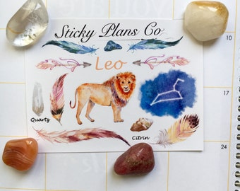 Leo Zodiac Sign Stickers