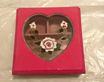 Pink Stain Glass Jewelry Box