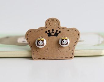 Little Princess Ceramic Stud Earrings