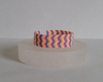 Bracelet, jewel woven beads Miyuki, multicolor, rafters, modern style
