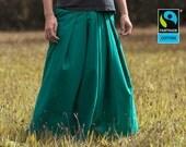 Fairtrade pants green - hakama pants harem pants knickerbockers , fair vegan organic