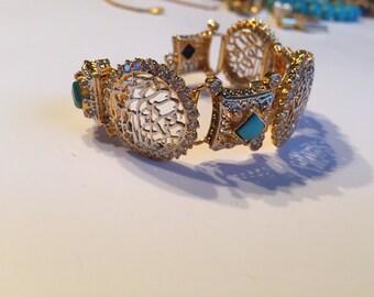 Arabic Calligraphy Nauratan precious bracelet
