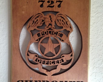 Custom Made Police Officer Plaque