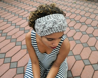 Knitted Headband, Cable Braided Head Piece