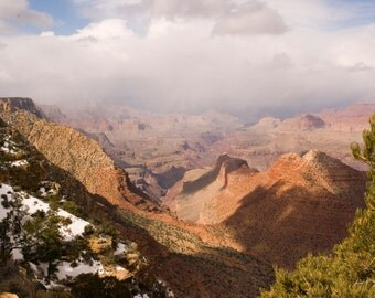 National Parks Photography, Grand Canyon Photograph, Clouds, Arizona, South National Park