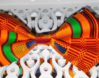 Kente hair bow