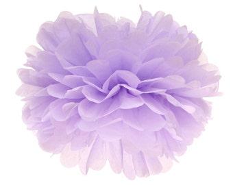 Pom Pom, Tissue Paper Pom Pom Ball, Tissue Paper Pompoms, Lavender Pom Poms, Wedding Photobooth Backdrop, Fairy 1st Birthday Hanging Poms