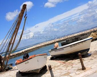 boats of fishermen in marina of Lagos in Portugal, Algarve