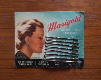 Marigold Rubber Tipped Hair Grips pack of 8
