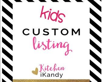 Kids Custom Half Apron