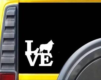 Schipperke Love Window Decal Sticker *J536*