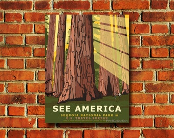 See America Sequoia National Park Poster - #0443