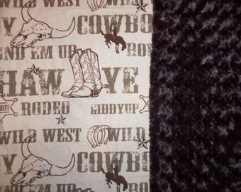 Cowboy Minky Swirl Blanket