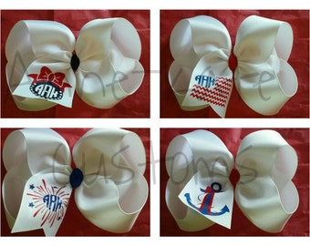"""Patriotic/4th of July 6"""" Bow"""