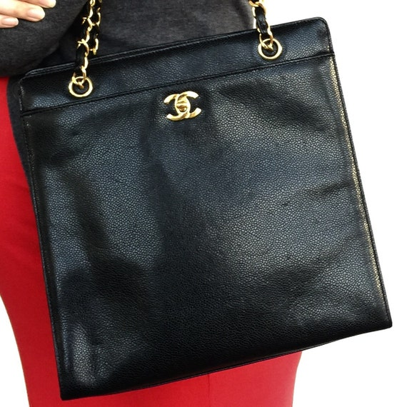 Vintage Chanel Caviar Jumbo Shopper
