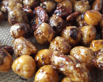 Caramelized dried fruit