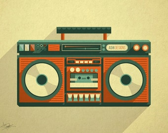 The Boombox Poster