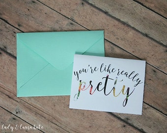 you're like really pretty bloom foldable digital download notecard with envelope template