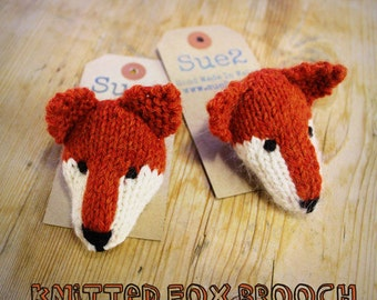 Hand Knitted Fox Pin