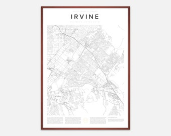 Irvine Map Print