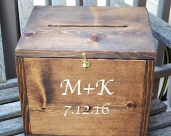 Wedding Card Box, Large Card Box, Rustic Wedding, Wedding Cards, wedding cake stand, Wedding Decor,  Custom Card Box, Personalized
