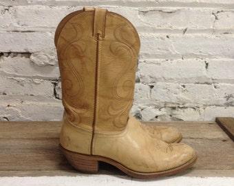 Laredo Mens Cowboy Boots - Western Beige - Size 11