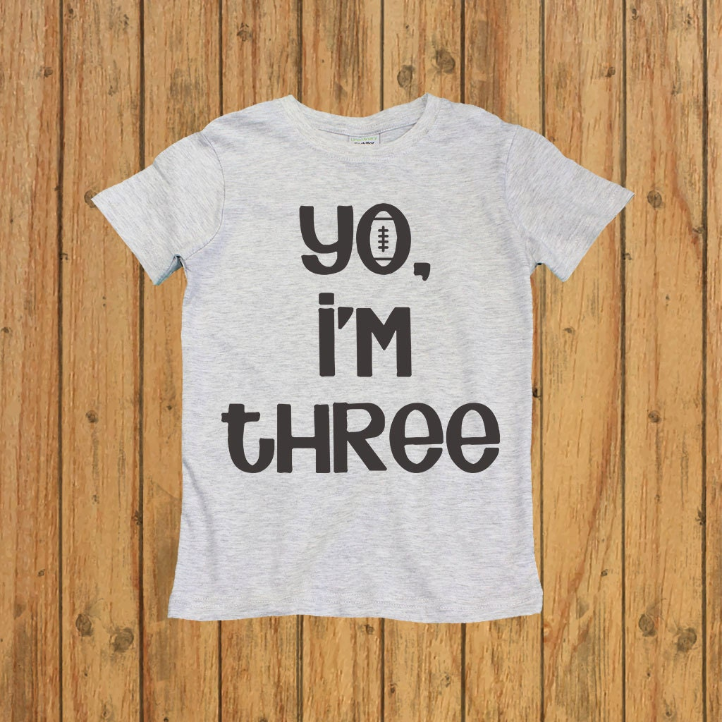 Boys Third Birthday Shirt Three Year Old Yo Im