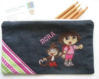 Chest embroidered pencil Dora