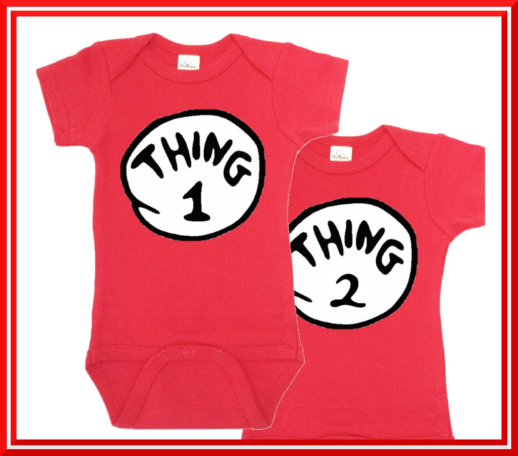 Thing1 Thing 2 esie Thing 1 Thing Two Twin esies
